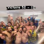 selfie de la victoire esac ( St amour rugby ) à mions