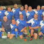 vétérans de GRISOLES , ''les ingraniéros'' qui jouaient vendredi et qui célébraient le jubilé de ''PERCHOUILLE '' (surnom de david PARCHE)