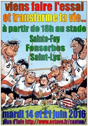 Saint-Lys-Ste Foy : Journées découverte Ecole de rugby