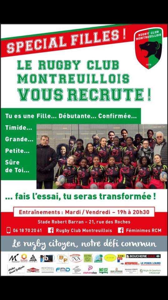Montreuil : équipe féminine recherche joueuses