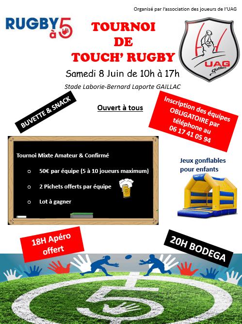 GAILLAC : 08/06/2019 Tournoi de Touch' Rugby Mixte de l'amicale des joueurs de Union Athlétique Gaillacoise Rugby
