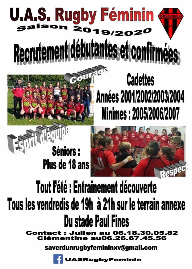 UAS Rugby Féminin recrute