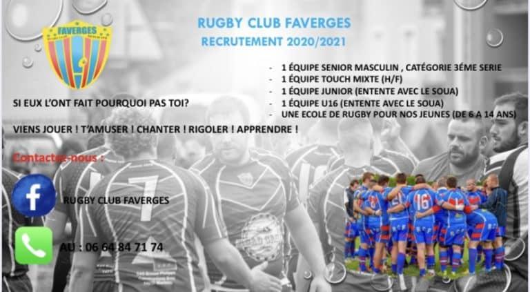 74 : Faverges recrute
