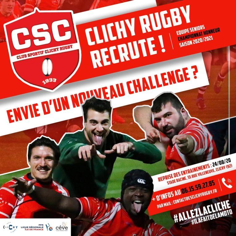 CS CLICHY – Honneur – Recrutement