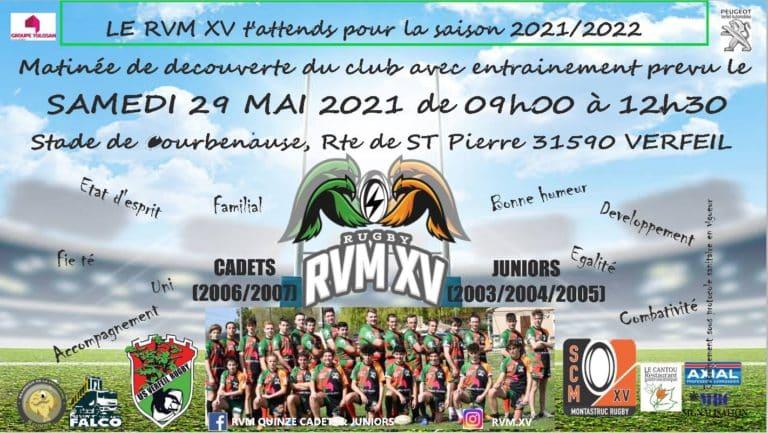 Haute-Garonne : l'entente RVM XV recrute