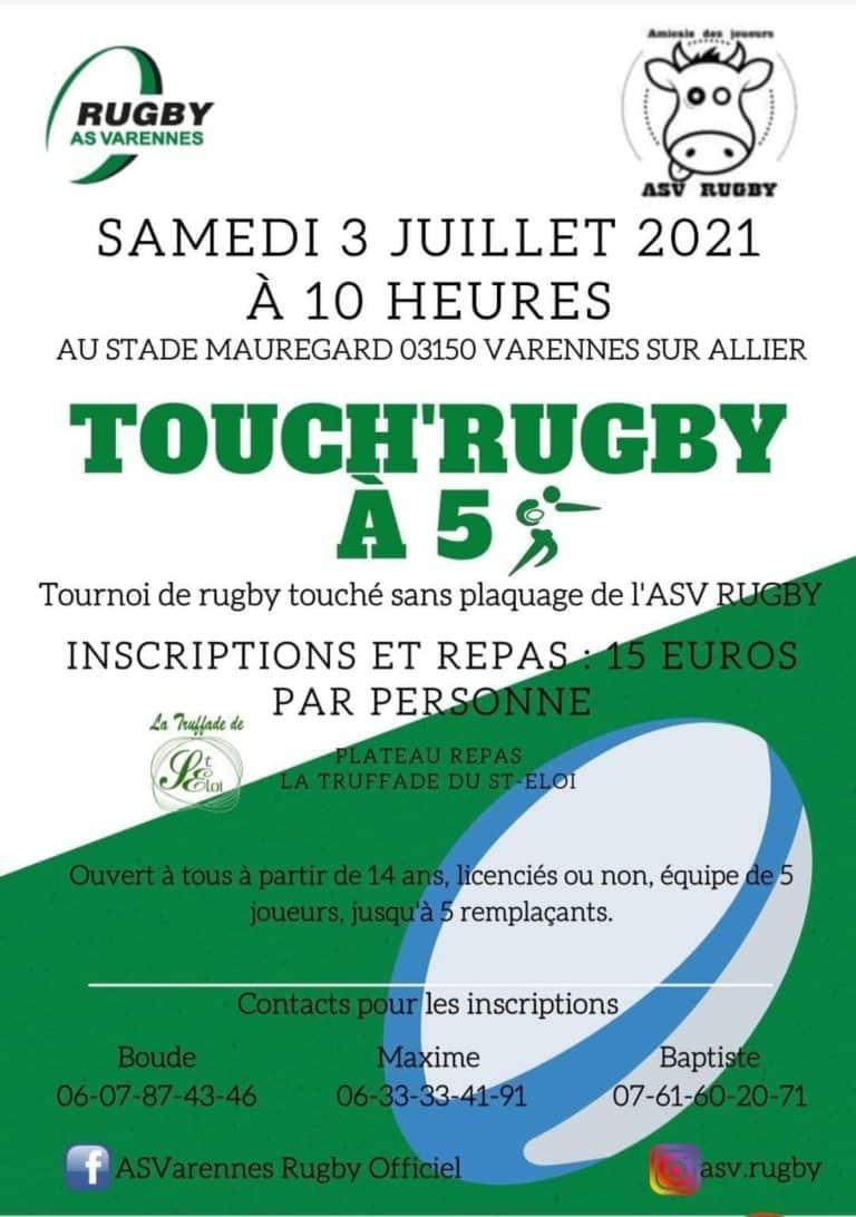 Allier : Tournoi de touch rugby à l'AS Varennes